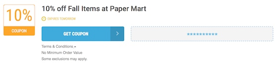 Paper Mart Offer Terms