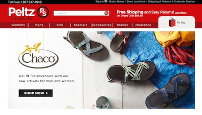 Peltz Shoes Website