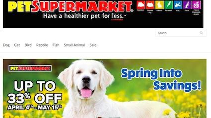 Pet Supermarket Website