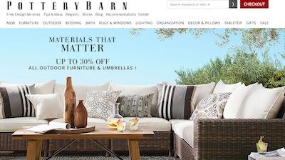 Pottery Barn Website