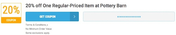 Pottery Barn Offer Terms