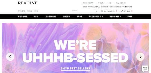 Revolve Clothing Website