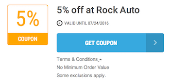 Rock Auto Offer Terms