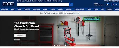 Sears Website