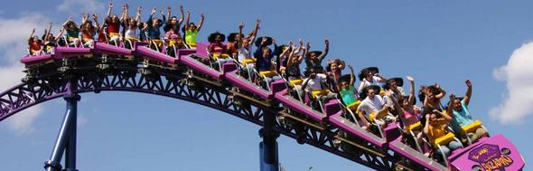 Six Flags Rollercoaster