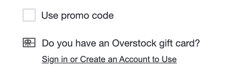 You must be signed into your Overstock account to apply a promo code to your order.