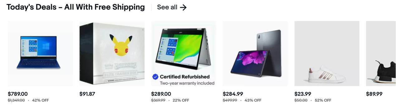 ebay today's deals
