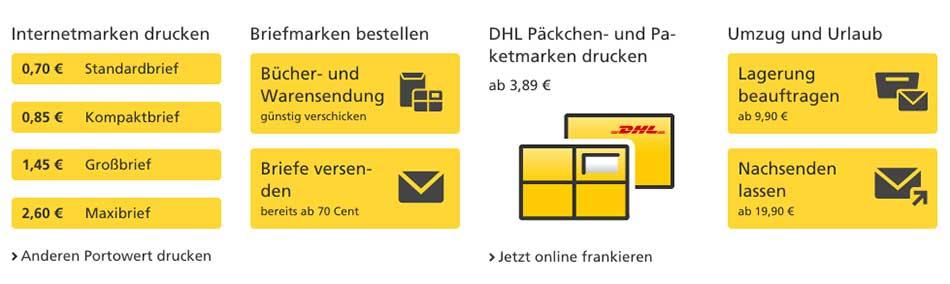 Deutsche Post Online Rabatt