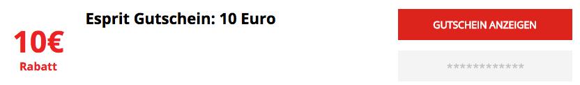 Esprit 10 Euro Gutschein