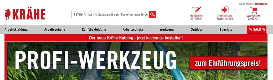 Krähe Homepage