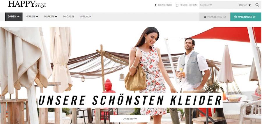 Happy Size Homepage