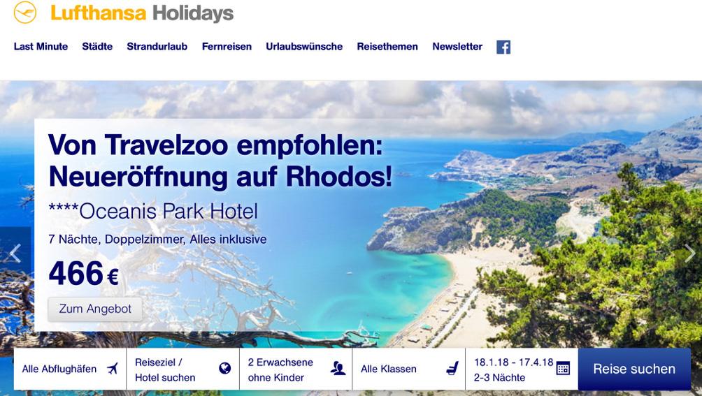 Lufthansa Holidays Gutscheincode