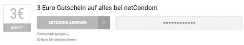 netCondom Gutscheinbedingungen
