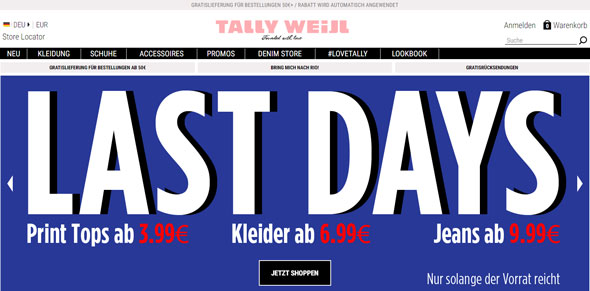 Tally Weijl Screenshot