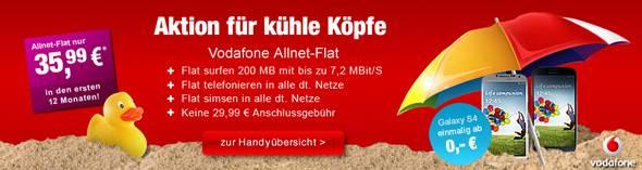 Werbebanner Vodafone