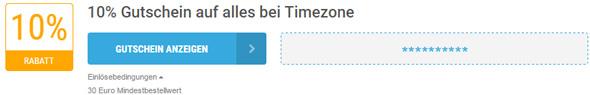 Timezone Einlösebedingungen