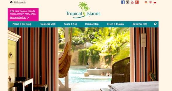 Tropical Island Webseite