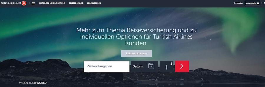 Turkish Airlines Gutschein Versicherung
