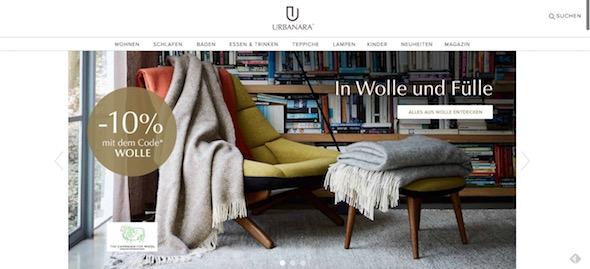 Urbanara Webseite