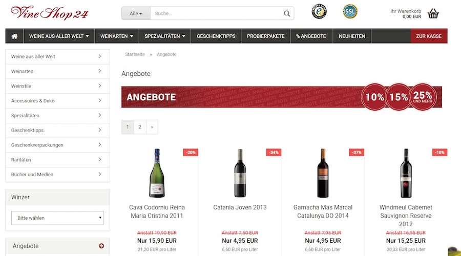 Vineshop24 Rabatte