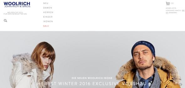 Woolrich Webseite