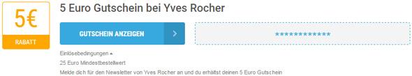 Yves Rocher Einlösebedingungen