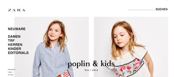 Zara Webseite