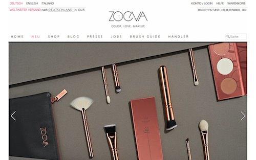 Zoeva Webseite