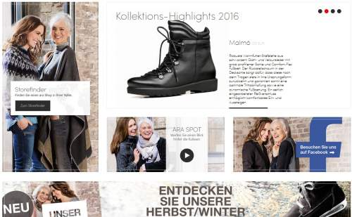 ara Shoes Screen