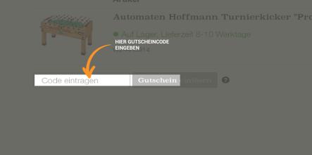 Automaten Hoffmann Gutschein einlösen
