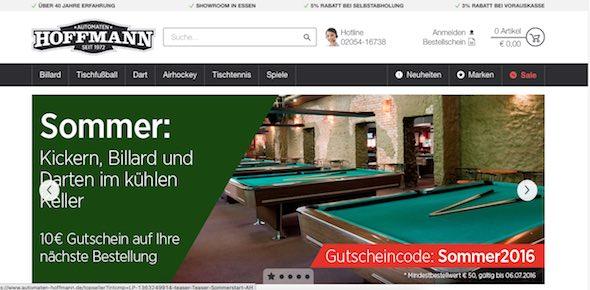 Automaten Hoffmann Webseite