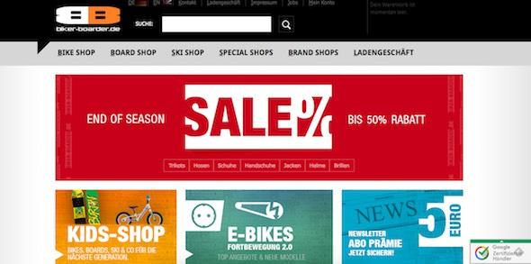 Biker Boarder Webseite