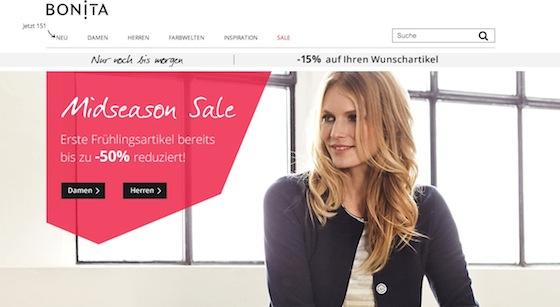 Bonita Webseite