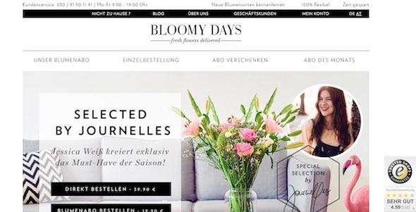 Bloomy Days Webseite