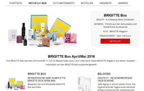 Brigitte Box Screen
