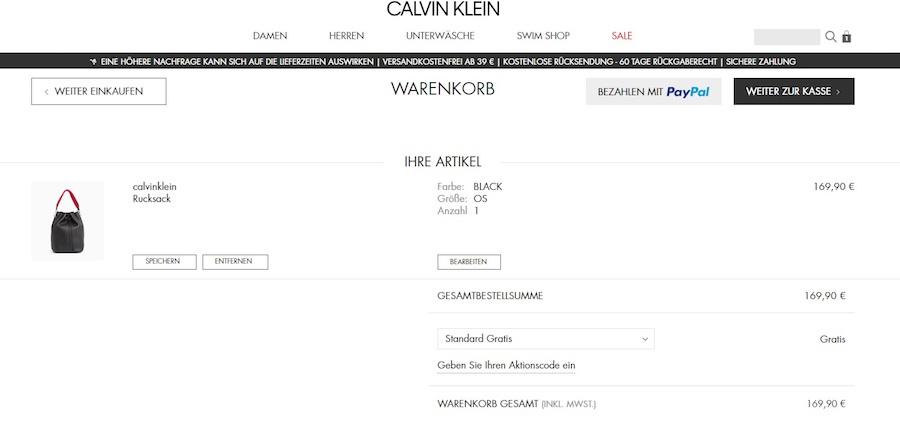 Calvin Klein Gutschein