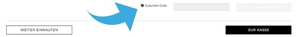 comma Gutschein-Code einlösen Feld