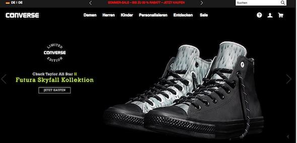 Converse Webseite