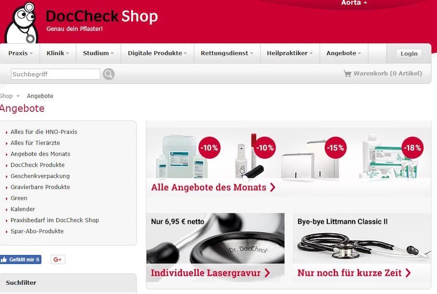 DocCheck Shop Deals