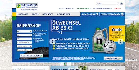 Euromaster Webseite