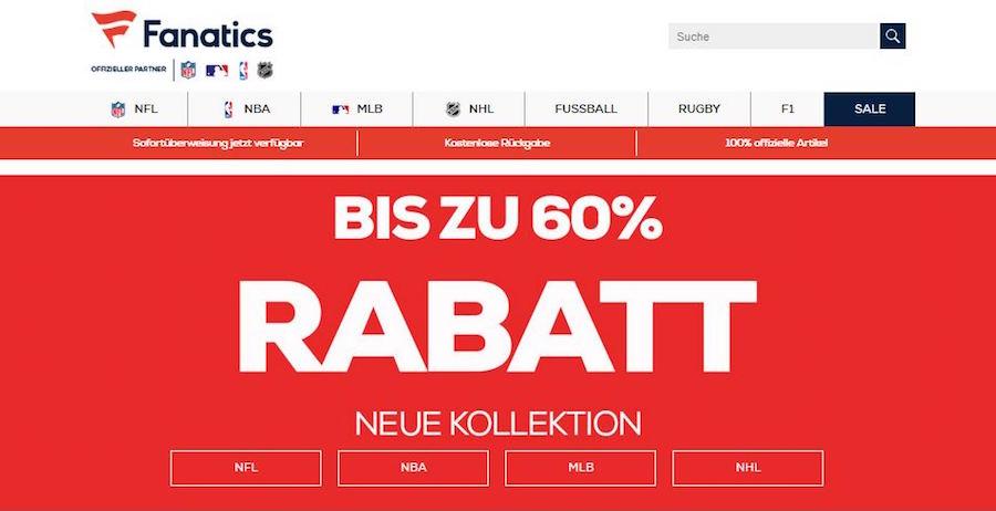 Fanatics Homepage