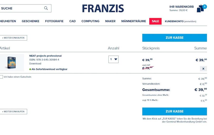 Franzis Verlag Gutschein