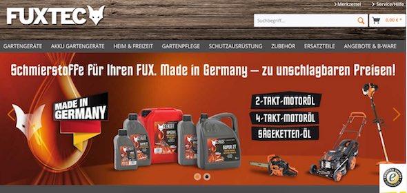 Fuxtec Webseite