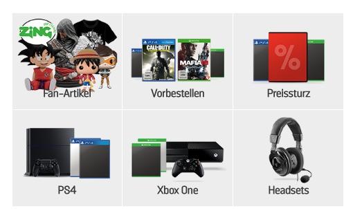 Gamestop Kategorien