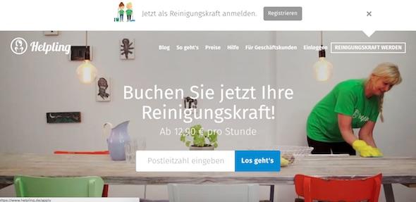 Helpling Webseite
