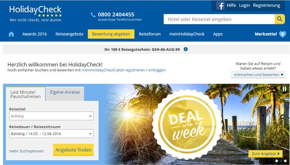 HolidayCheck Screenshot