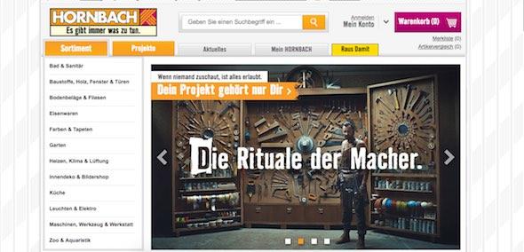 Hornbach Webseite