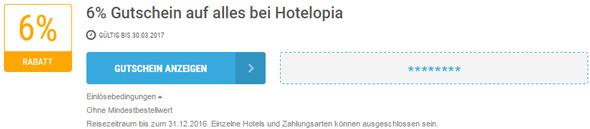 Hotelopia Einlösebedingungen