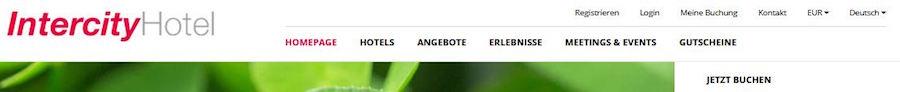 Intercity Hotel Homepage Angebote