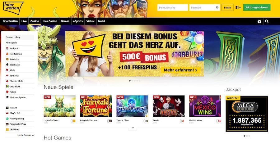 Interwetten Casino Gutschein